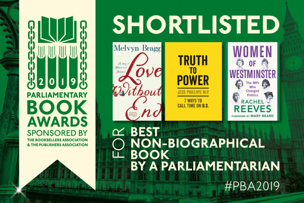 Parliamentary Book Awards shortlist non-biographical book by a parliamentarian