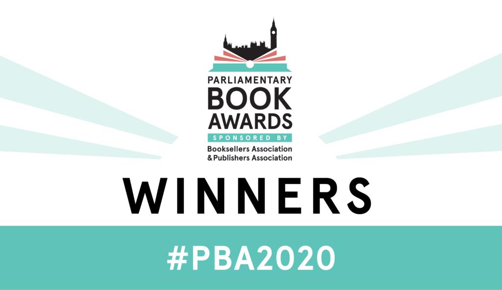 Parliamentary Book Award logo with Winners and #PBA2020